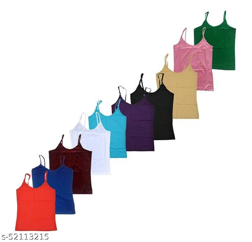 Women's Cotton Camisole MultiColor Pack of 10