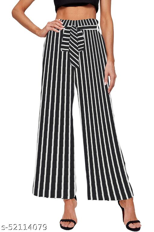 Missby Women's Relaxed Fit Palazzo (SPADES-125-ORG)