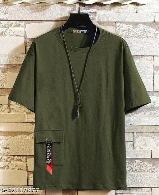 Lime offers Relaxed HipHop T shirt with stylish Side Pocket for keeping mobile inside it.