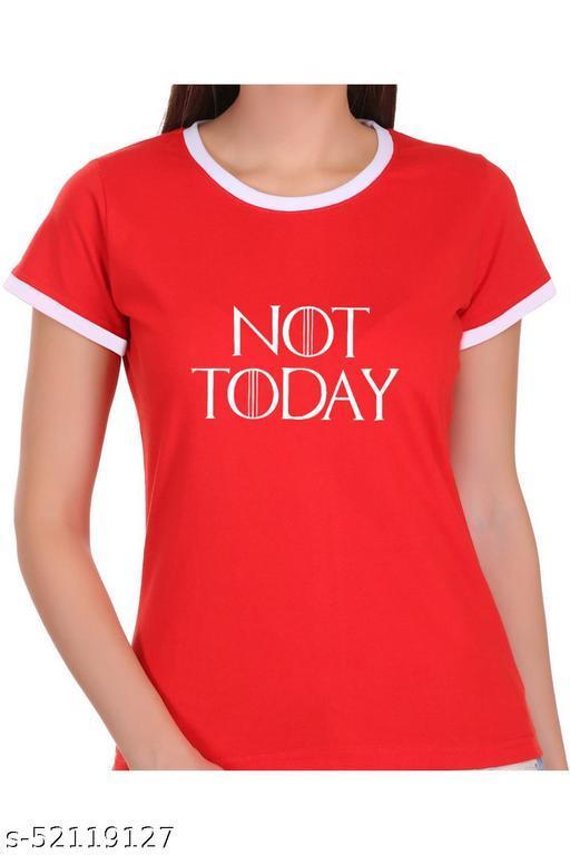 ItkiUtki Not Today Ringer Printed T-shirt