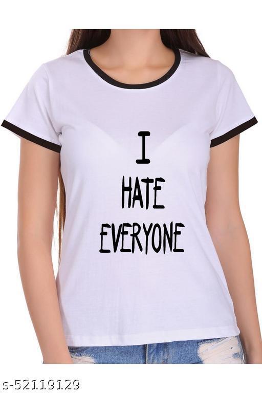 ItkiUtki I Hate everyone Ringer Printed T-shirt
