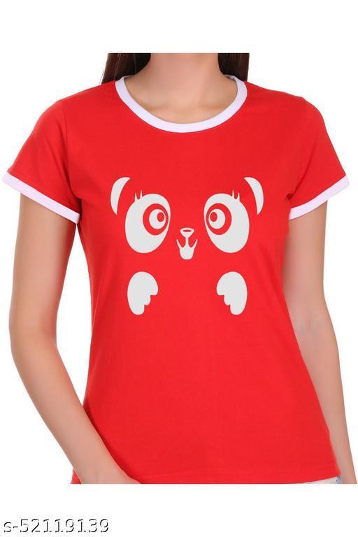 ItkiUtki Funny Panda Ringer Printed T-shirt