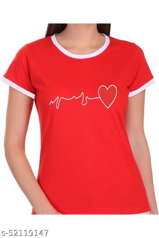ItkiUtki Heart Beat Ringer Printed T-shirt
