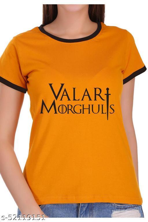 ItkiUtki Valar morghulis Ringer Printed T-shirt