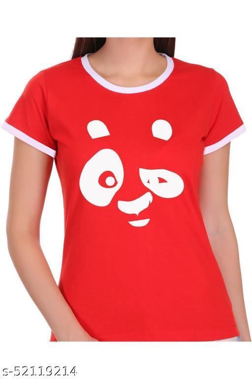 ItkiUtki Engry Panda Ringer Printed T-shirt