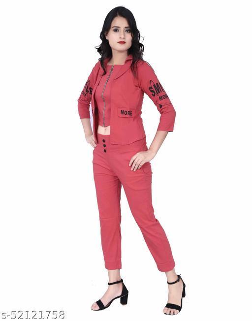 S.K. Garments Women Ethnic Jacket and Trouser Set