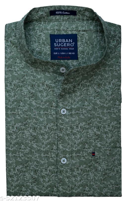 Men's Cotton Fabric Printed Stylish Party Wear Shirt
