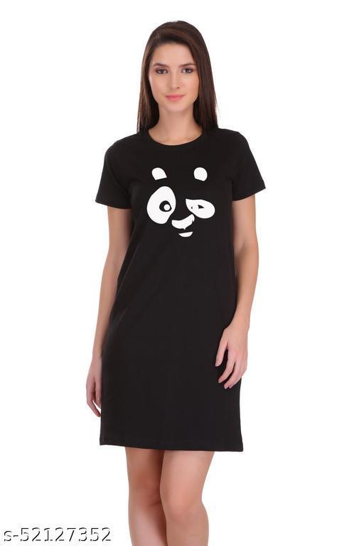 ItkiUtki Engry Panda Printed Derss