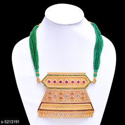 Women's Bead Work Gold Plated Necklaces & Chains