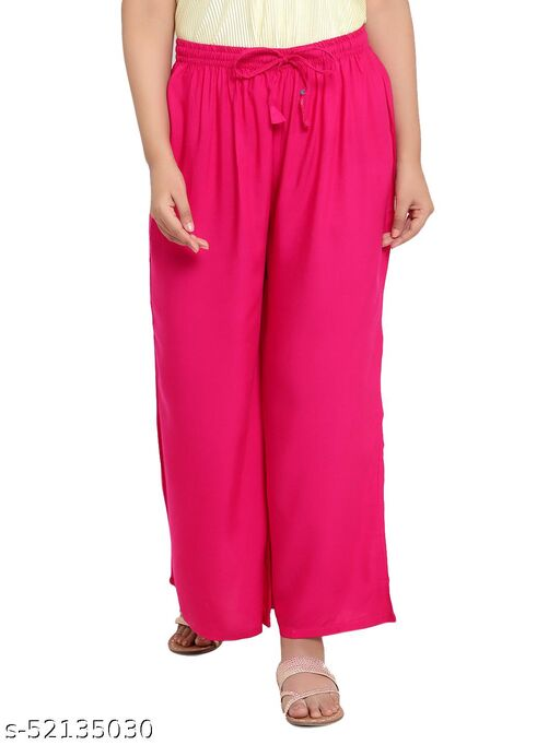 QUEEN FOREVER Women's Relaxed Fit Rayon Sharara Free Size Palazzos