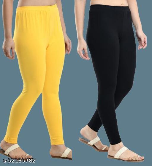 Elegant Trendy Women Solid Cotton Lycra Ankle Length Leggings