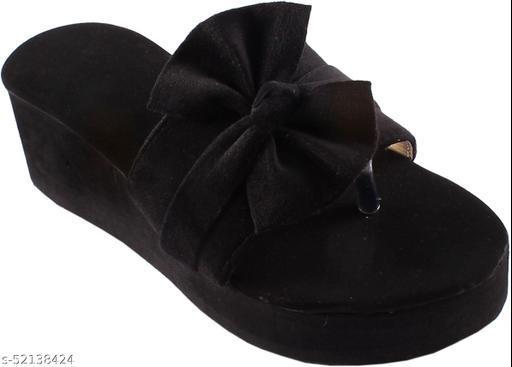 Urban Trendy Stylish And Comfortable Black Wedges