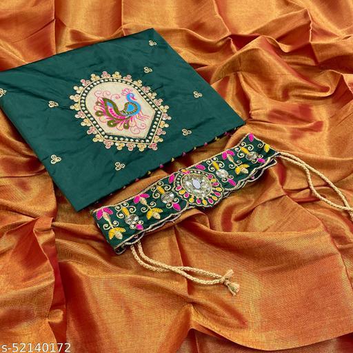 jivika uppada silk two tone belt saree