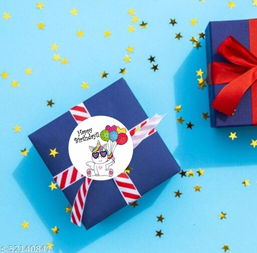 "Sudarshan Sticker ""Happy Birthday"" unicorn with balloon stickers (Pcs of 55)"