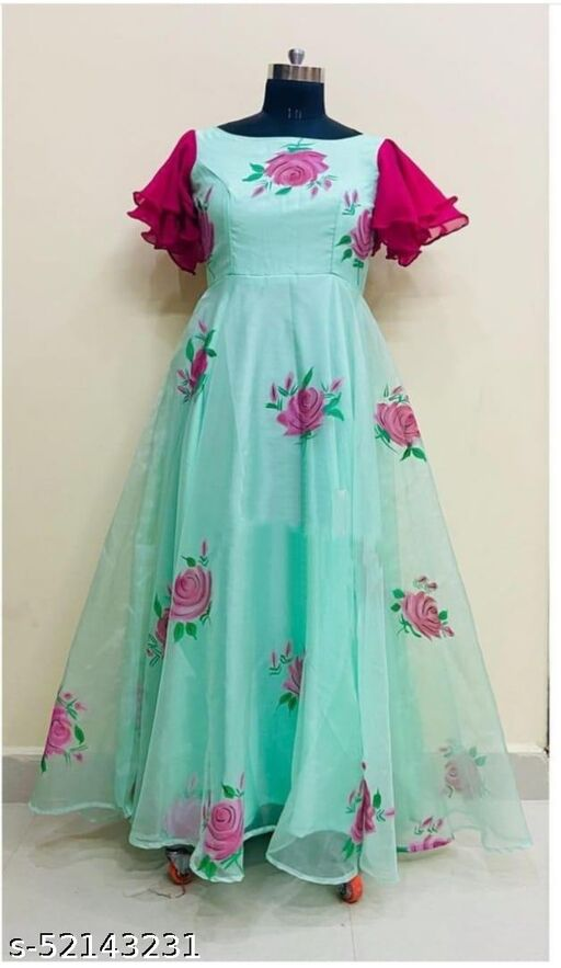 Pista Colored Printed Gown