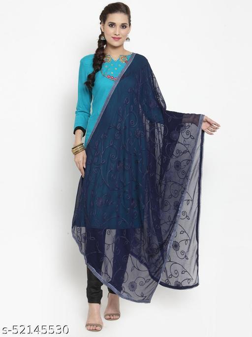 Priyam fashion Navy Blue Nazneen Karachi Work Dupatta