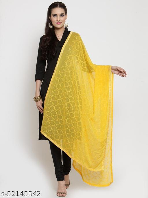 Priyam fashion Yellow Nazneen Karachi Work Dupatta