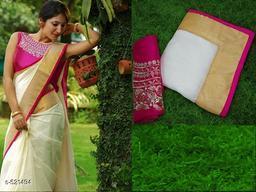 Designer Chanderi Cotton Saree