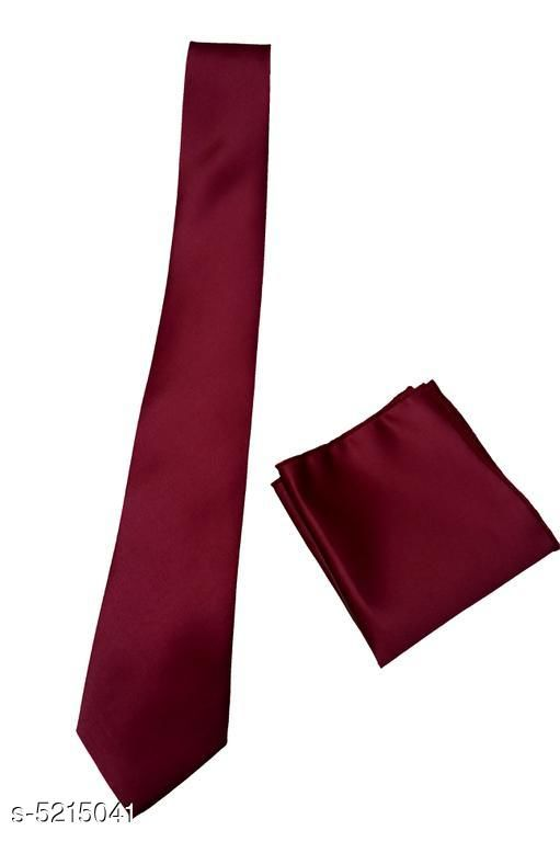 Casual Trendy Men's Tie With Pocket Square