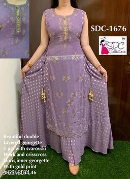 SDC Trendy Women's Double Layered Kurti