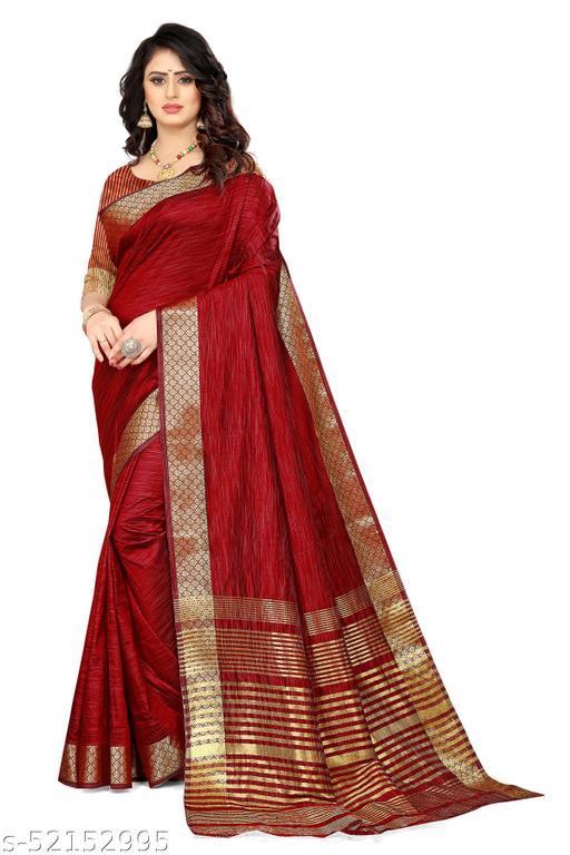 Soft Aasam Silk Plain Saree With Blouse
