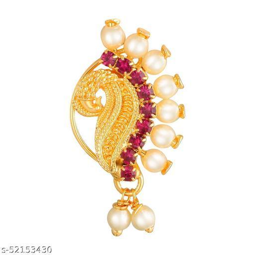 Virina Maharashtrain Traditional Ethnic Design Nath/Nose Ring for Women and Girls