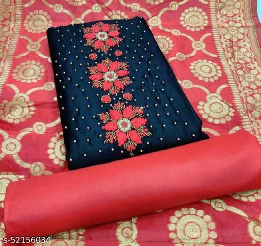 Cotton Silk Blend Embroidered Salwar Suit Dress Material