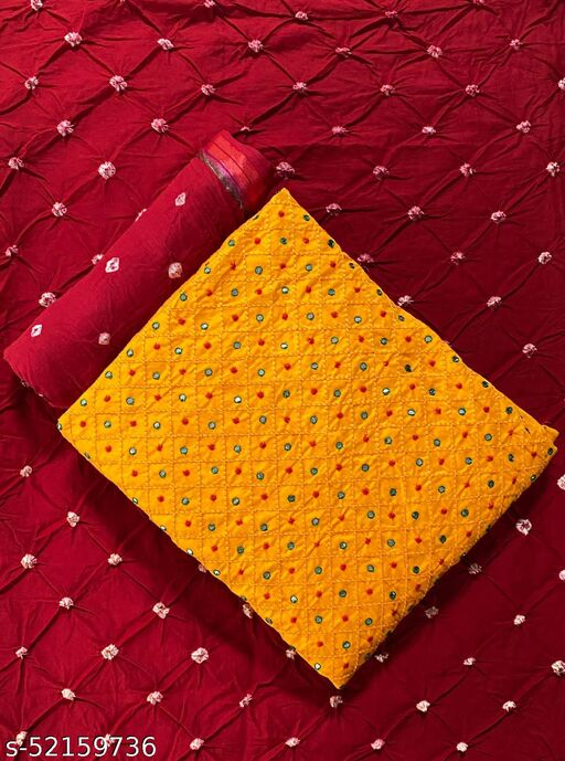 Self Embroidered Work With Mirror Suits & Dress Material