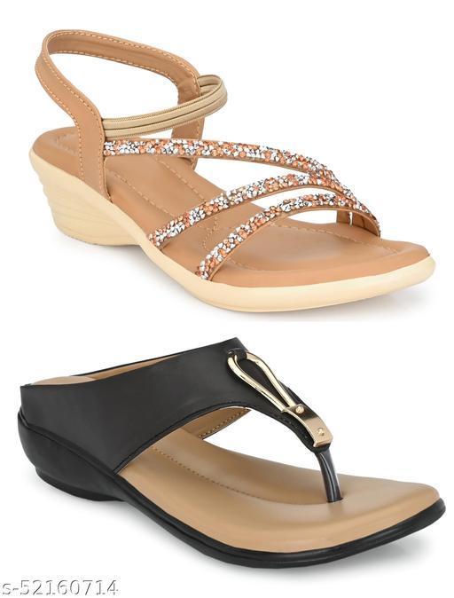 Cklics Women Attractive Sandal Combo