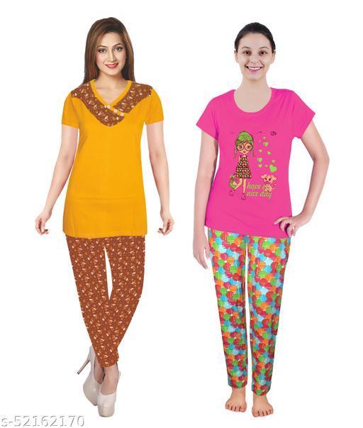 KCA LOOK LEAN Pajamas Set for Women Combo Pack of 2
