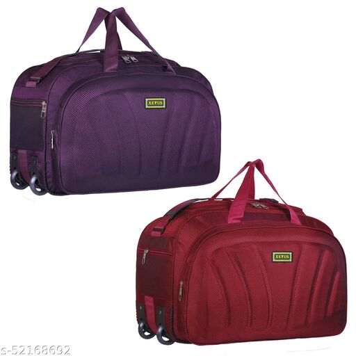 Unisex Stylish 60 Liter Cabin Luggage Bags for Travelling in Flight, Train & Bus Latest Travel Duffle Bags for Men and Women (Pack of 2)