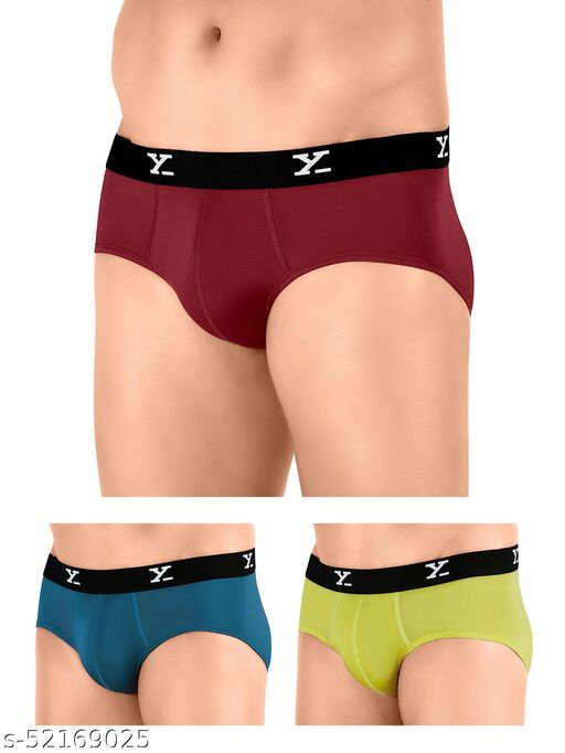 IntelliSoft Antimicrobial TENCEL Modal Premium Ace Brief For Men (Pack of 3)