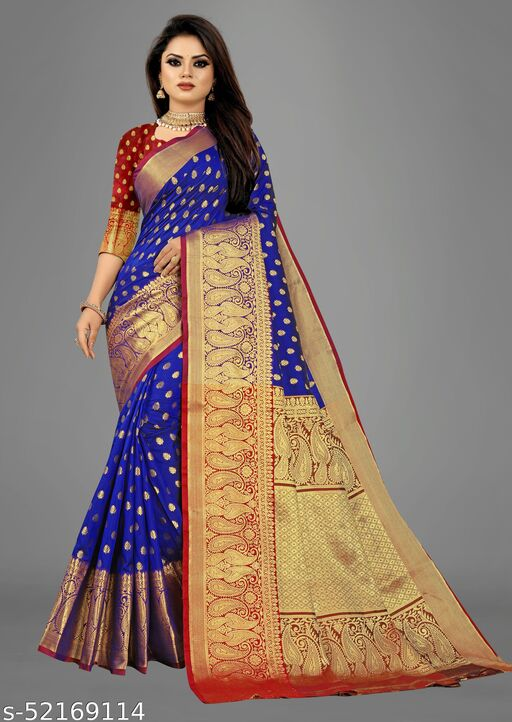 New heavy Jaquard saree with rich pallu with regular blouse
