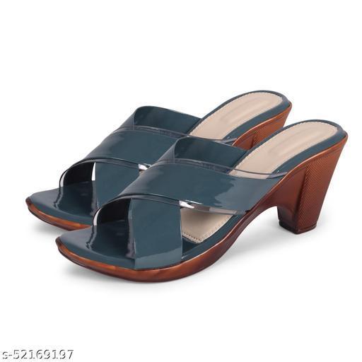 Fashimo Women's/ Girls Heels 663-Grey