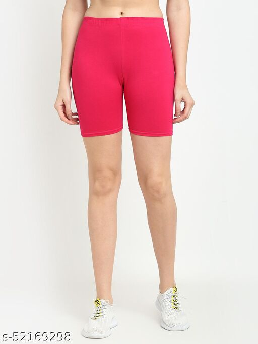 Women Pink Four way super commed lycra Cycling Shorts