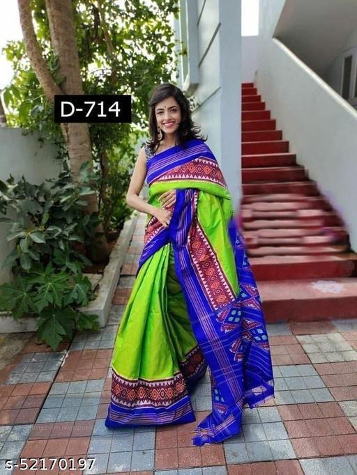 Diyan Fashion designer double ikkat pattu Sarees