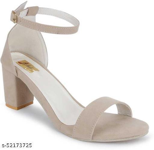Shofiee comfort footwear Velvet Heels for Women