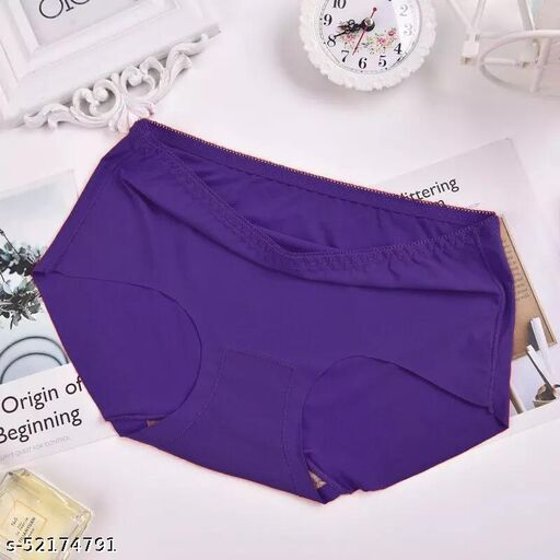 High-quality soft solid-colour seamless panties confortale and smooth seamless panties