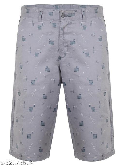 Crosscode - Men's Printed Casual Shorts(CCSHT021_SKY)