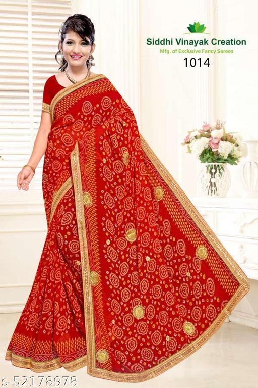 POSHNIKA Elegant Bandhani Saree