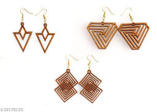 Toxen MDF Wooden Earrings For Girls & Women Fancy Jhumka…