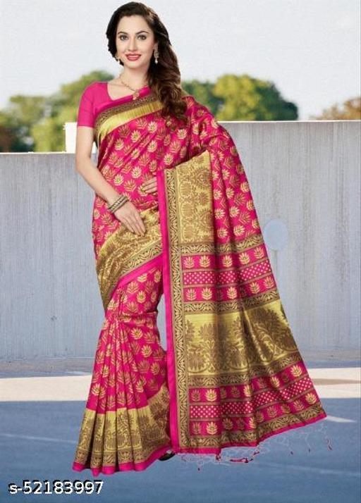 Cotton Silk Printed Casual Wear Saree