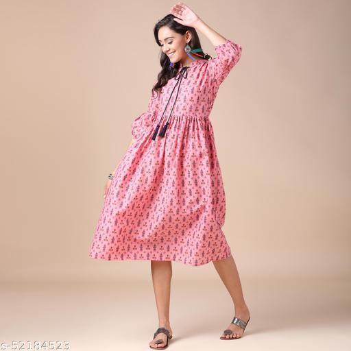 J TURRITOPSIS Women's Pc Cotton Skater Dress