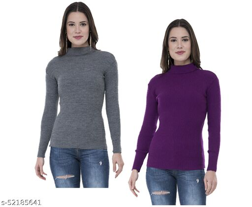 IndiStar Womens Wollen Warm High Neck/Skivvy for Winter (Pack of 2)