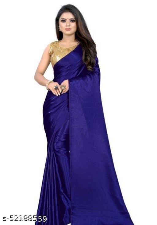 SALE LOWEST PRICE FOR YOU SILK SAREE WITH SEQUENCE BLOUSE