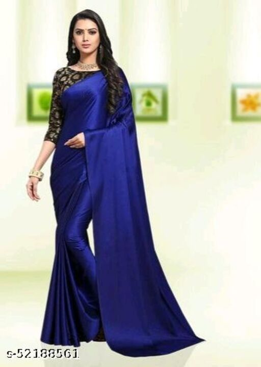 SALE LOWEST PRICE FOR YOU SOLID SILK SAREE WITH JACQUARD BLOUSE