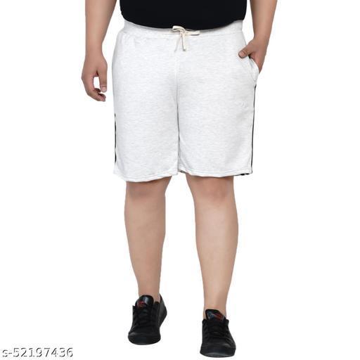 John Pride Regular Fit Lilia White Knitted Shorts for Men's