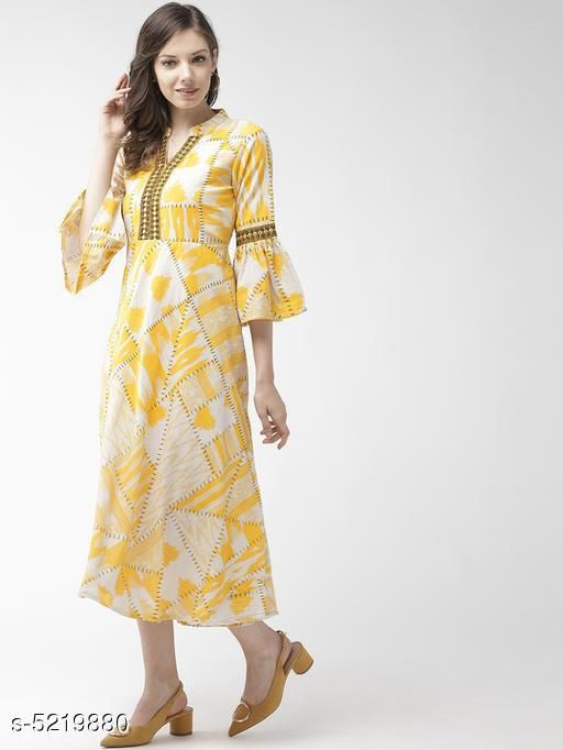 Women's Printed Light Multicolour Cotton Dress