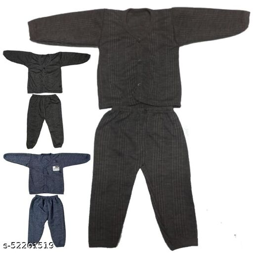 Kids Winter Wear Thermal Top and Bottom Set for Baby Boys