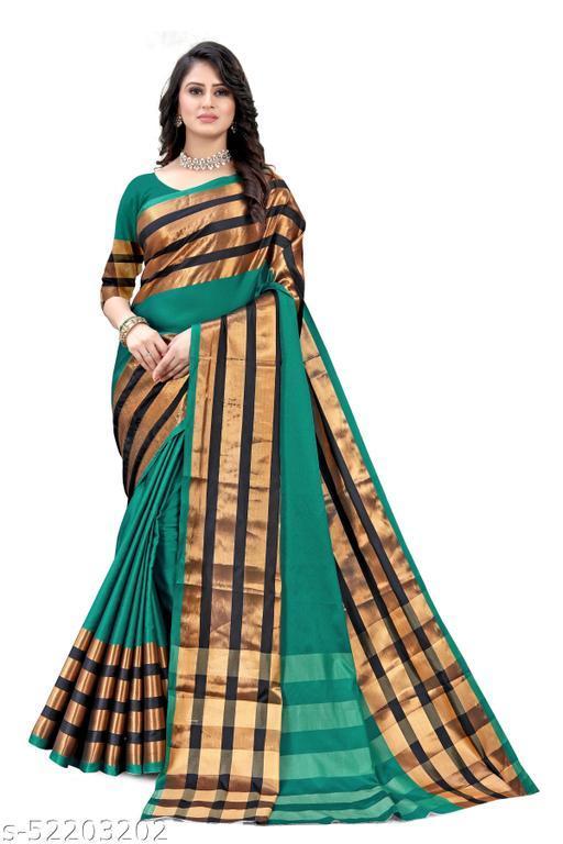 Aura Silk Plain Saree with Blouse